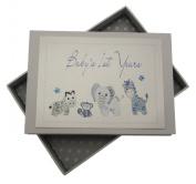 White Cotton Cards Handmade Baby's 1st Years Tiny Photo Album