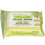 4 Packs of Organic Luxury Facial Cleansing Travel Wipes with 90% Aloe Vera