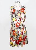 Nursing Breastfeeding Tropical Flower pattern Dress