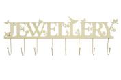 Cream Metal Birds and Flowers Jewellery Display Hooks Holder