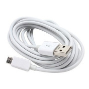 Generic Micro USB Data Cable Charger Lead For Galaxy Htc Samsung / Blackberry White