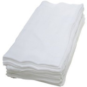 (12 X WHITE) Premium Quality Baby Muslin Squares 100% Cotton, 72cm X 72cm, Supersoft , Made In EU