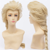 COSPLAZA Cosplay Costume Wigs 65cm Long Frozen Princess Queen Elsa Synthetic Full Hair Light Blonde