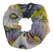 Yellow Flower Large Hair Scrunchie IN4657