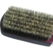 Mens MILITARY hair brush SOFT with free comb (100% Pure Boar bristles) in BLACK
