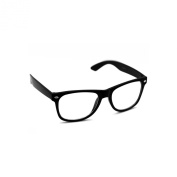 Wayfarer, Nerd Glasses, Clear Lens, Black