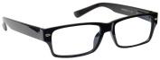 Reading Glasses +2.50 Strength Mens Womens Unisex Wayfarer Style Black UV Reader UVR006 Inc Case