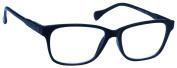 UV Reader Navy Blue Reading Glasses +3.00 Strength Designer Style Mens Womens Lightweight Comfortable Inc Case UVR027