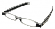 Unisex durable black reading glasses full frame strength +2.00