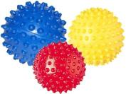Pack of 3 - Spiky Massage Balls Stress Reflexology - 6cm, 8cm and 10cm