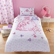 Catherine Lansfield Kids Glamour Princess Duvet Cover Set, Multi, Single