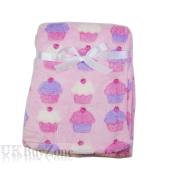 Baby Newborn Fleece Blanket Swaddling Wrap Swaddle Hooded Robe Dressing Gown Girl or Boy, Pink or Blue, 0+ Months Unisex