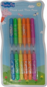Peppa Pig 'Thick and Thin Pens' Stationery Character Felt Tips Pen