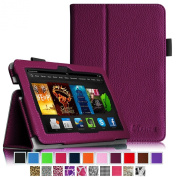 Fintie Amazon Kindle Fire HDX 7 Folio Case - Slim Fit Folio Premium Vegan Leather Stand Cover with Auto Sleep/Wake for Kindle Fire HDX 18cm (3rd generation - 2013 release), Purple