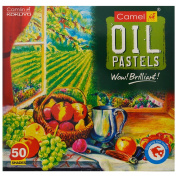 Camel 15 Shades Oil Pastels include 1 Drawing Pencil Free gift
