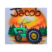 Tractor professional airbrush stencil