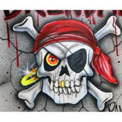 Pirate skull1 professional airbrush stencil