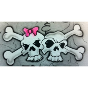 Skulls couple professional airbrush stencil