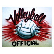 Volleyball professional airbrush stencil