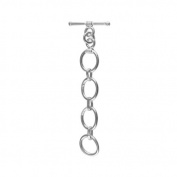 Silver Filled Toggle With Without Oxidised TSF-162-WO 10X12MM