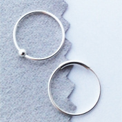 Nose Rings, 12mm, 22 gauge, Sterling Silver, Set of TWO, captive bead and plain hoop, lip,eyebrow,body piercing