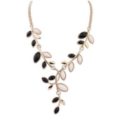 Cytprimedesign® Leaves Swirling Resin Necklace