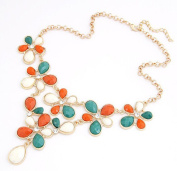 Cytprimedesign® Fashion Golden Chain Water Drop Resin Beads Necklace