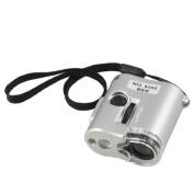 Water & Wood 60X Loupe Magnifier 2 LED Light 1 UV Lamp Gemstone Jewellery Grey Shell