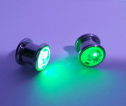 LED Light up Ear Gauge Plug (Size