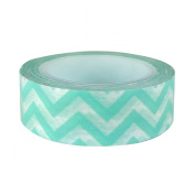Aqua Chevron Japanese Washi Tape - *15mm x 15M* - TWILIGHT PARTIES