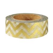 Metallic Gold Chevron Japanese Washi Tape - *15mm x 15M* - TWILIGHT PARTIES