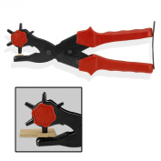 Super-Power Leather Hole Punch Pliers - 70% More Power Means Less Effort - 6 Hole Sizes