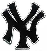 NY New York City State Yankee Letter USA Sport Logo Applique Iron-on Patch Embroidered Sew T-shirt Hat