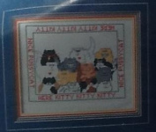 Here Kitty, Kitty Cross Stitch Kit WC100