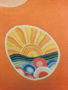 Sunrise - Vintage Coats & Clarks #5831 Embroidery Creative Stitchery Heat Transfer Kit