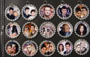 15 Doctor Who SILVER Bottle Cap Pendant Necklaces Set 5