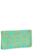 'Nuriah' Convertible Crossbody Clutch , Turquoise