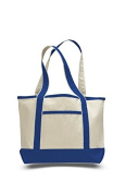 Canvas Small Boat Tote, Royal Blue