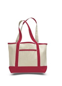 Canvas Small Boat Tote, Red
