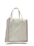 Cotton Canvas Line-Up Tote, Red