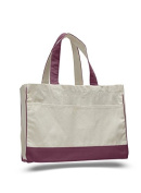 Cotton Canvas Shopping Tote, Maroon