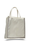 Cotton Canvas Line-Up Tote, Chocolate