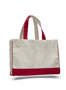 Cotton Canvas Shopping Tote, Red