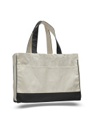 Cotton Canvas Shopping Tote, Black