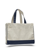 Cotton Canvas Shopping Tote, Navy Blue