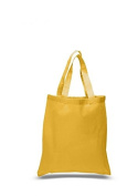 Cotton Canvas Tote Bag, Gold