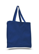 Cotton Canvas Shopper Tote, Royal Blue