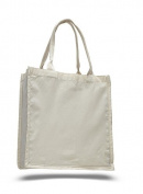 Canvas Slim Shopping Tote, Natural