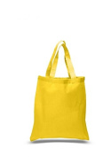 Cotton Canvas Tote Bag, Yellow