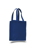 Heavy Canvas Shopping Tote, Royal Blue